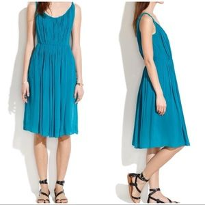 Madewell teal sun isle dress